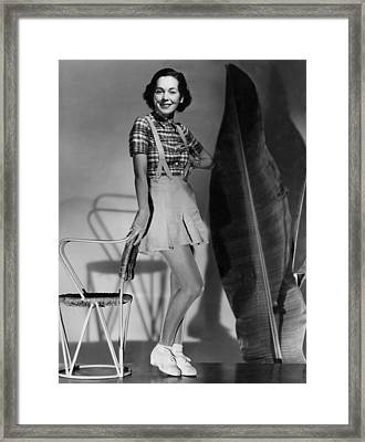 Maureen Osullivan, Portrait By Clarence Framed Print by Everett