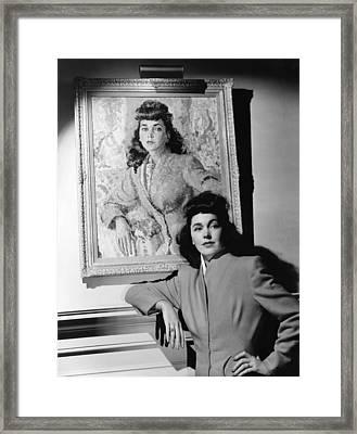 Maureen Osullivan Standing Framed Print by Everett