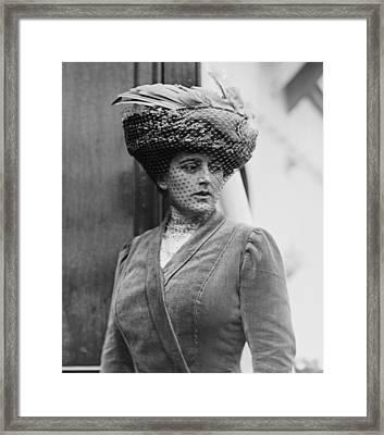Maxine Elliott 1868-1940 Was One Framed Print by Everett