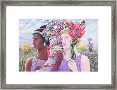 Mayflowers Framed Print by Purvis Evans