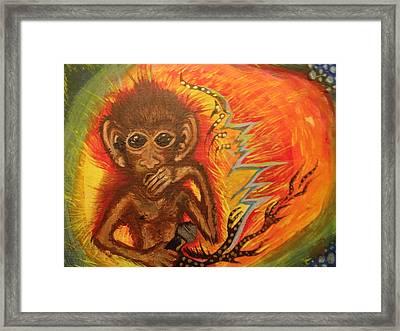 Mc Monkey Framed Print by Zitlalli Rodriguez