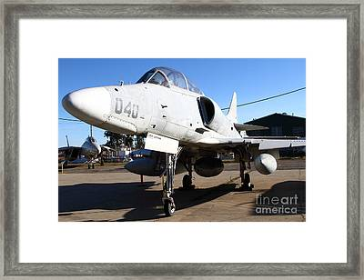 Mcdonnell Douglas Ta-4j Skyhawk Aircraft Fighter Plane . 7d11303 Framed Print by Wingsdomain Art and Photography