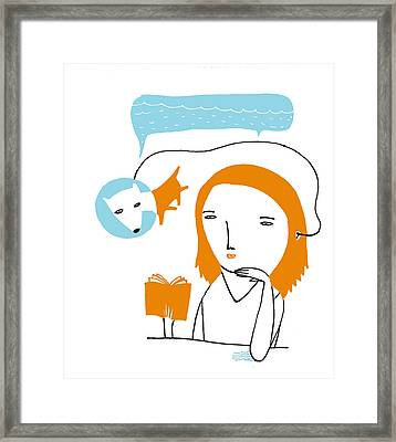 Me And My Dog Framed Print by Luciano Lozano