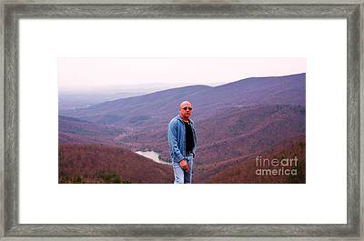 Me In The Bludridge Mountains Framed Print by Artie Wallace
