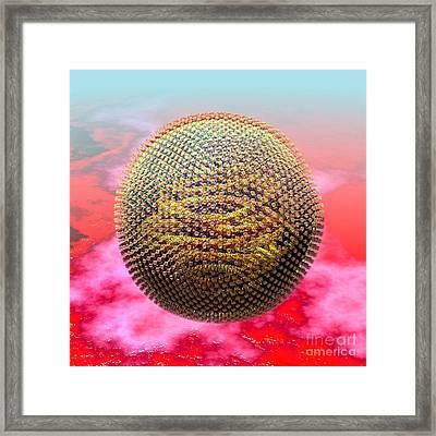 Measles Virus Framed Print by Russell Kightley