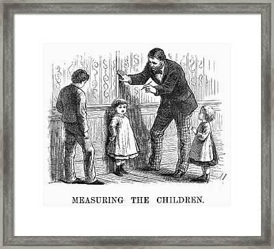 Measuring Children, 1876 Framed Print by Granger