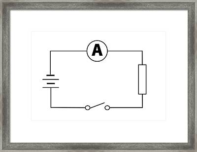 Measuring Electric Current Framed Print by Sheila Terry