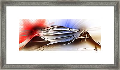 Mechanical Emotions Flow Framed Print by Rahul Rathore