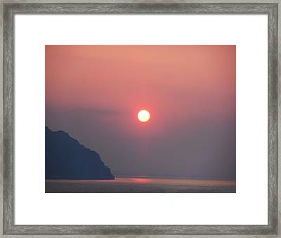 Medaterainian Sunset Framed Print by Bill Cannon