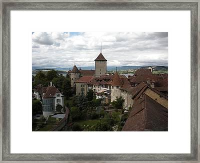 Medieval Murten Switzerland Framed Print by Marilyn Dunlap
