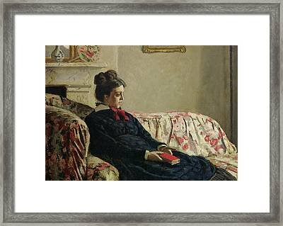 Meditation Framed Print by Claude Monet
