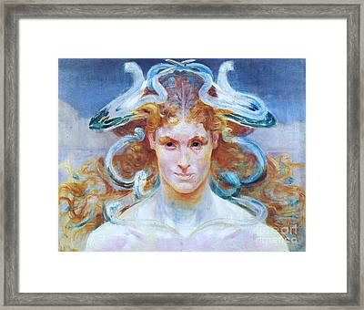 Meduza Framed Print by Pg Reproductions
