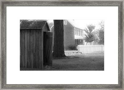 Meeks Outhouse Framed Print by Teresa Mucha
