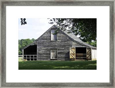Meeks Stable Framed Print by Teresa Mucha