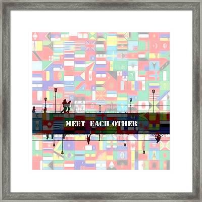 Meet Each Other Framed Print by Steve K