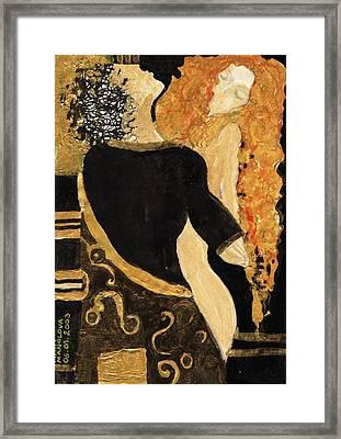 Meeting Gustav Klimt  Framed Print by Maya Manolova