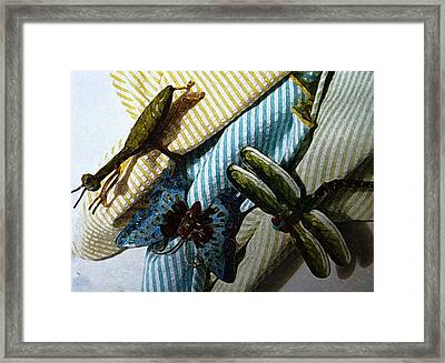 Meeting Of Insects Framed Print by Anke Wheeler