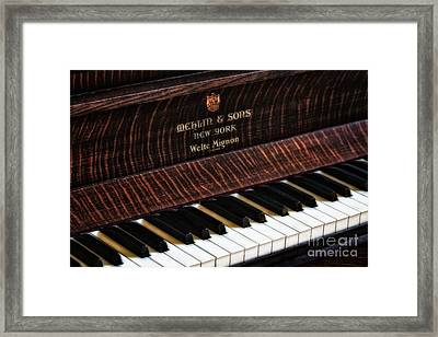 Mehlin And Sons Piano Framed Print by Susan Candelario