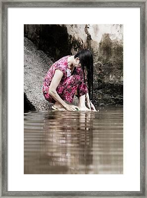 Mekong Delta Life Framed Print by Iris Van den Broek