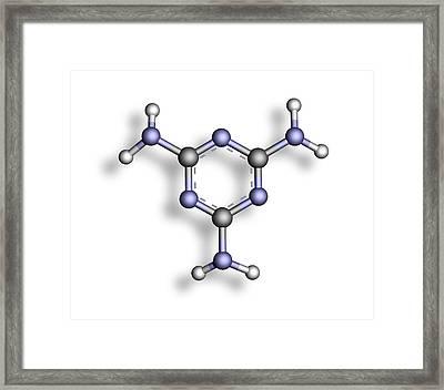 Melamine, Molecular Model Framed Print by Pasieka