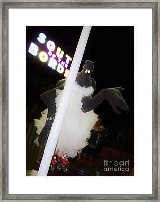 Melanie Pole Dancing At The Border Framed Print by Lynda Dawson-Youngclaus