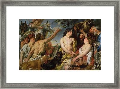 Meleager And Atalanta Framed Print by Jacob Jordaens