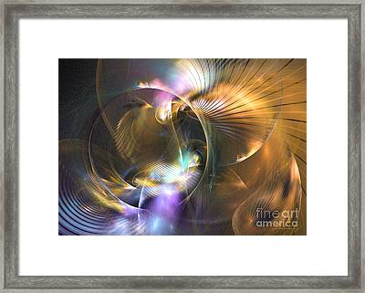 Mellow - Abstract Digital Art Framed Print by Sipo Liimatainen