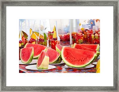 Melons Framed Print by Tom Gowanlock