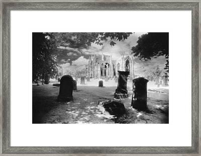 Melrose Abbey Framed Print by Simon Marsden