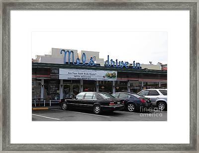 Mel's Drive-in Diner In San Francisco - 5d18012 Framed Print by Wingsdomain Art and Photography