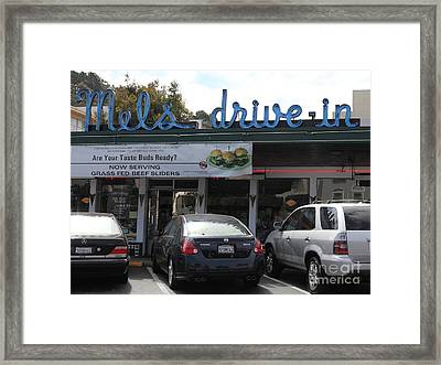 Mel's Drive-in Diner In San Francisco - 5d18014 Framed Print by Wingsdomain Art and Photography