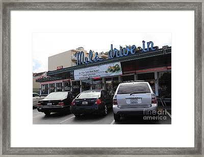 Mel's Drive-in Diner In San Francisco - 5d18027 Framed Print by Wingsdomain Art and Photography