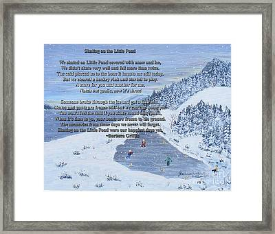 Memories Of A Little Pond Framed Print by Barbara Griffin