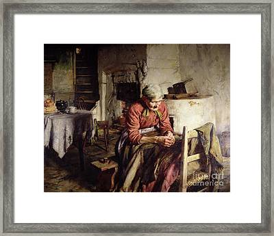 Memories Framed Print by Walter Langley