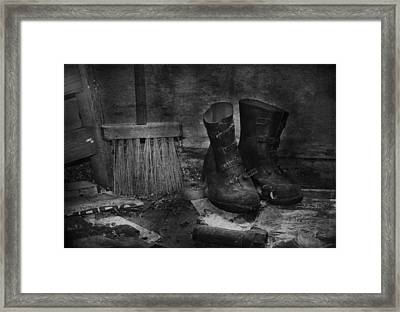 Men At Work Framed Print by JC Photography and Art