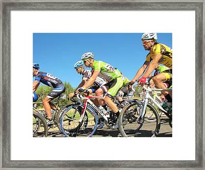 Men Start On Day Two Framed Print by Feva  Fotos