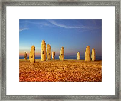 Menhirs Framed Print by Diego Velo