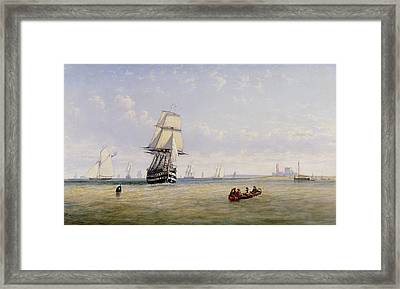 Meno War Schooners And Royal Navy Yachts Framed Print by Claude T Stanfield Moore