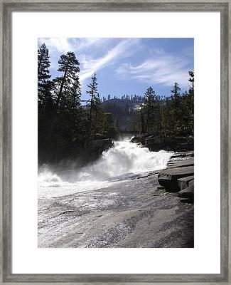 Merced River Above Vernal Falls Framed Print by Cyndi Combs