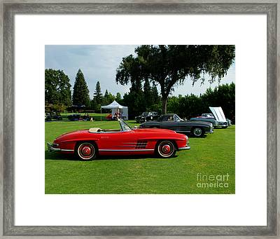 Mercedes 300 Sl Club Framed Print by Peter Piatt
