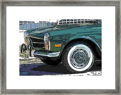 Mercedes Benz 280sl Roadster 2 Framed Print by Samuel Sheats