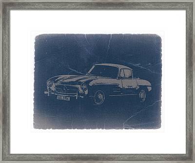 Mercedes Benz 300 Sl Framed Print by Naxart Studio