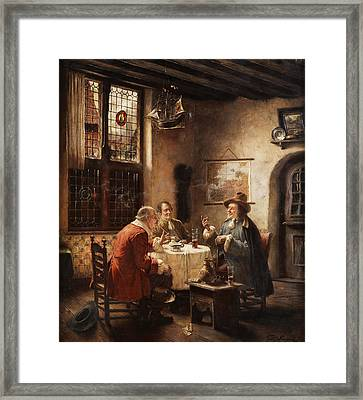 Merchants Framed Print by Fritz Wagner