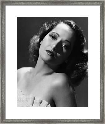 Merle Oberon, Ca. 1930s Framed Print by Everett