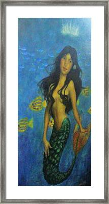 Mermaid Framed Print by Alexandro Rios