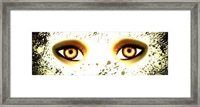 Mermaid Eyes Of Gold Framed Print by Amanda Yauch