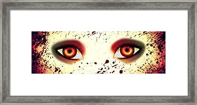 Mermaid Eyes Of Red Framed Print by Amanda Yauch