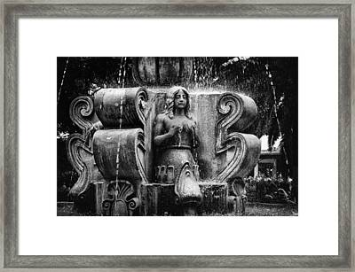 Mermaid Fountain Framed Print by Tom Bell