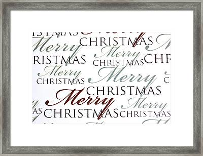 Merry Christmas Words Framed Print by Simon Bratt Photography LRPS