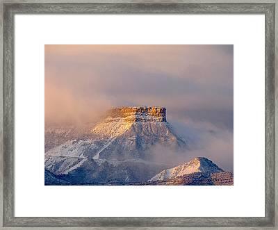 Mesa Verde Adorned With Clouds Framed Print by FeVa  Fotos